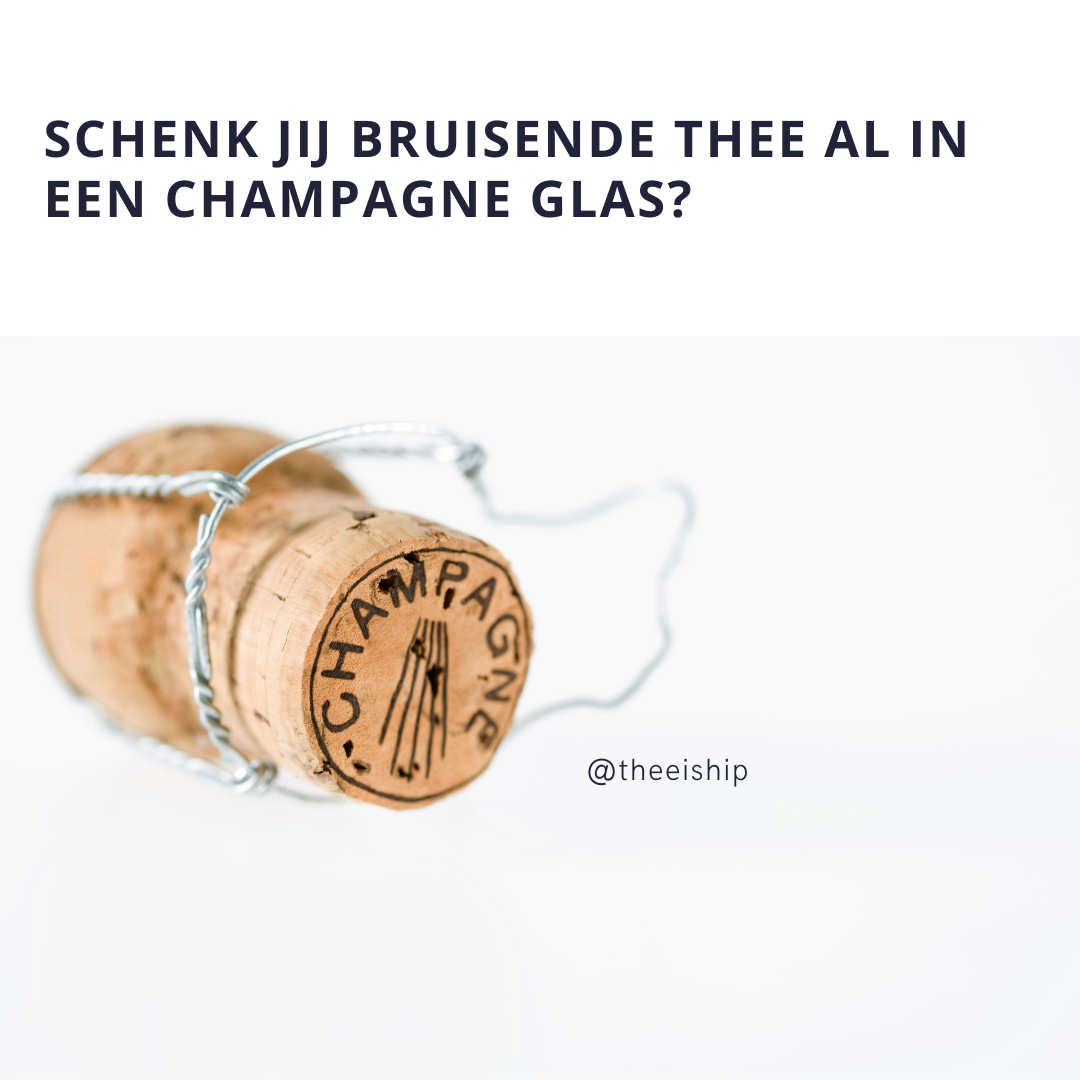 Bruisende thee, gewoon in je champagne glas!