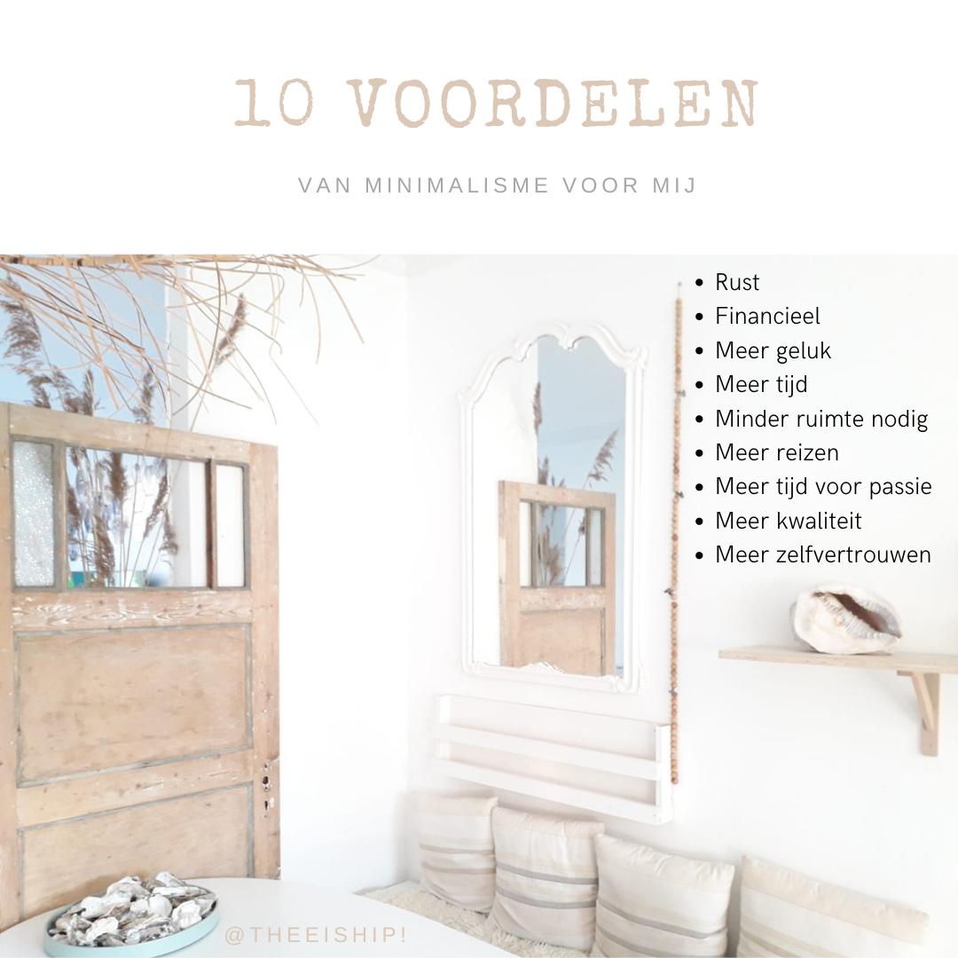 10 voordelen van minimalisme voor mij.