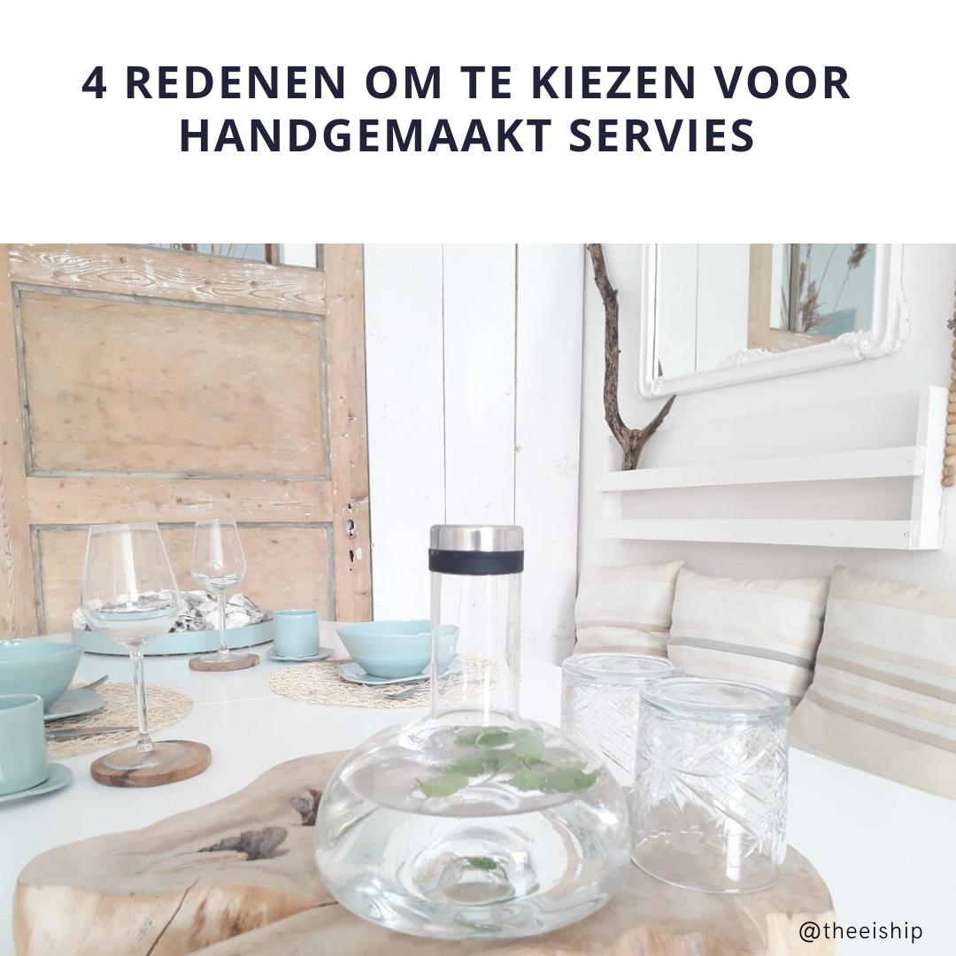 4 redenen om te kiezen voor handgemaakt en duurzaam servies
