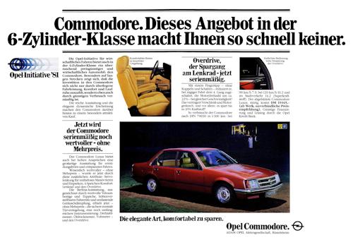 Opel Commodore C Werbung