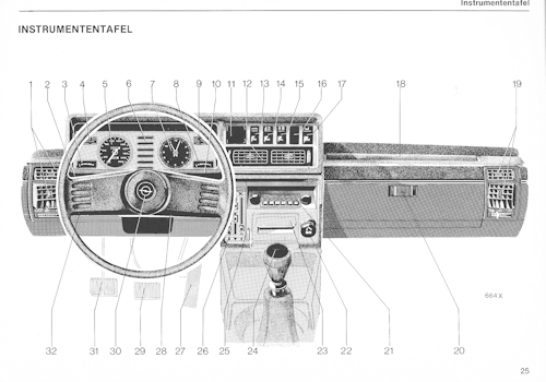 Opel Commodore C Bedienungsanleitung
