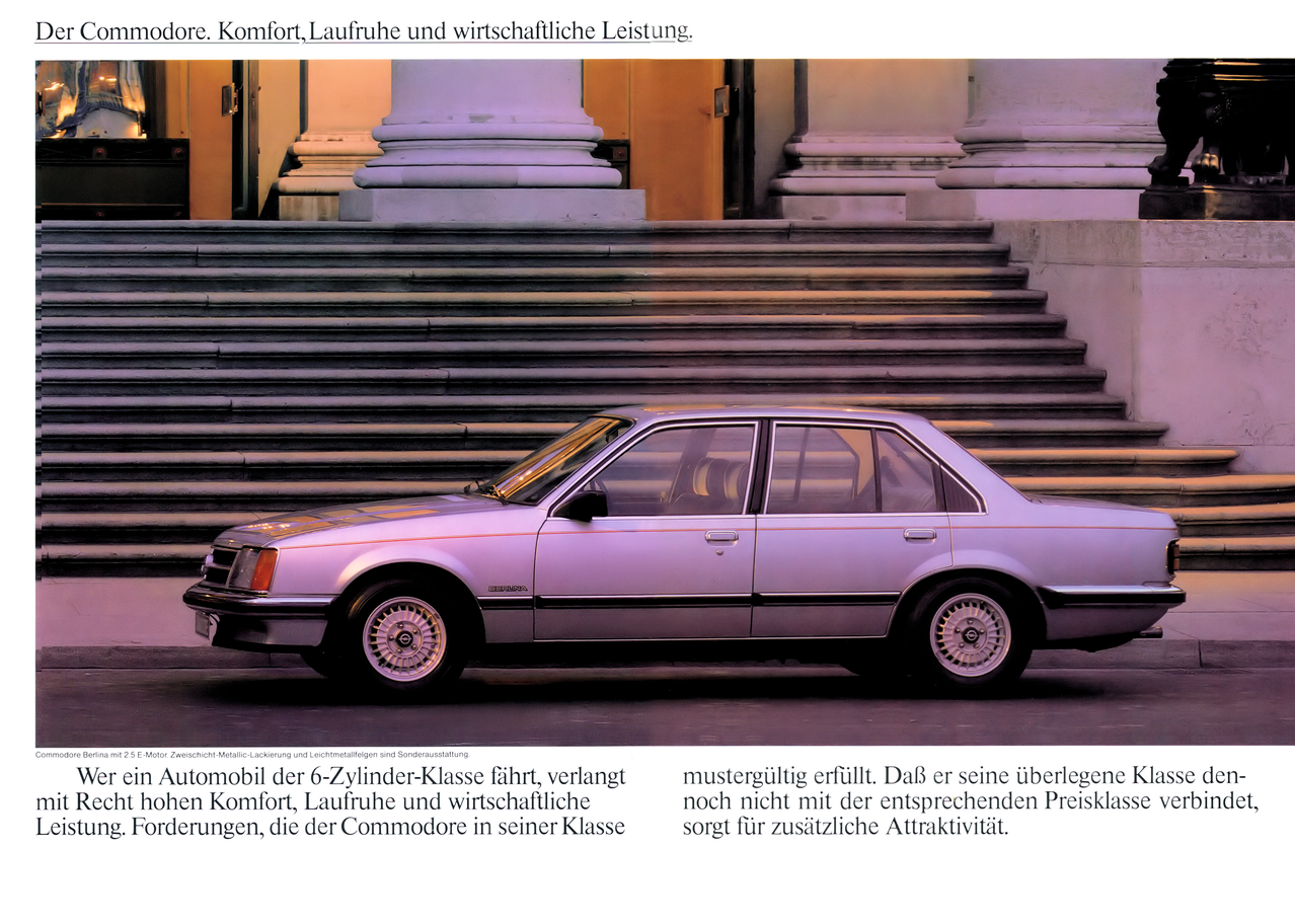 Prospekt Opel Commodore C 08/81 Deutsch - Wissenswertes ...