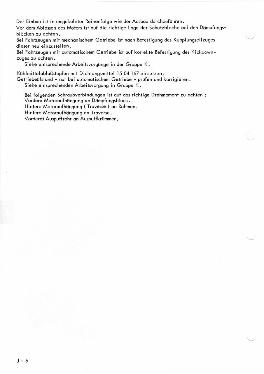 Werkstatthandbuch Motor - Wissenswertes über den Opel Commodore C