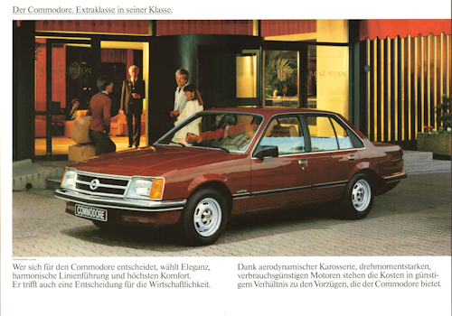 Opel Commodore C Prospekte