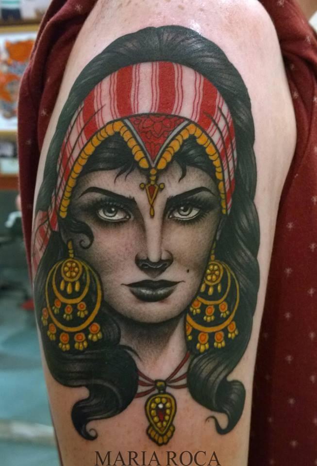 maria roca, gipsy tattoo,gipsy,gitana,tatuaje gitana,tatuaje madrid,neotradicional,newtraditional tattoo,woman tattoo,uktattoo, mejor tatuador español, tatuadora, tattooer