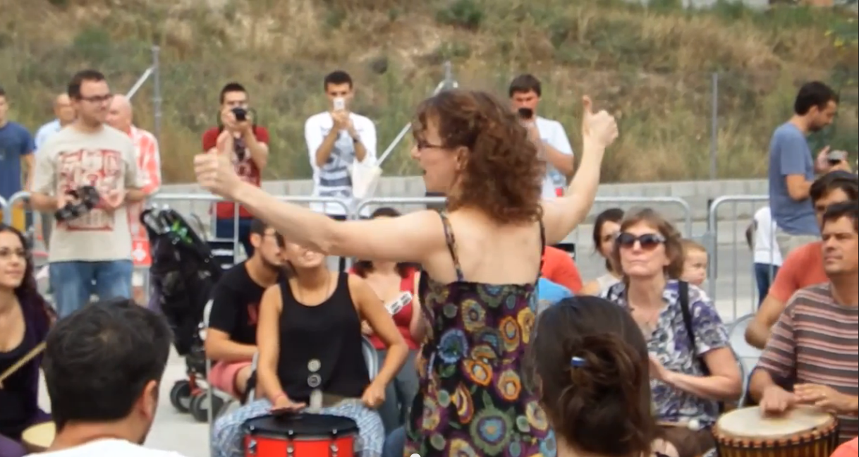 Open Community Drum Circle Barcelona Sept. 2014