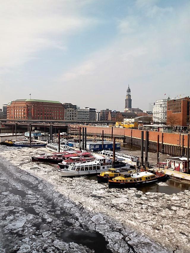 Hamburg, Speicherstadt, Hafen, Michel