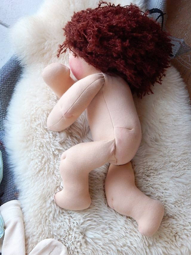 Demo-Puppe, Babypuppe, Waldorfart, Arbeitspuppe für Hebamme, handgemachte Puppe, Bio-Stoffpuppe, individuelle Puppe, Wunschpuppe, Puppenhandwerk, handgefertigte Puppe, Handarbeit