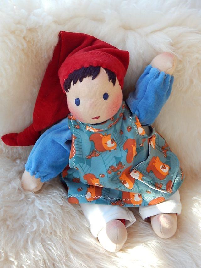 Bio-Stoffpuppe, handgemachte Stoffpuppe, Handarbeit, Schlamperle, Waldorfart, erste Puppe, Kleinkindpuppe, individuelle Puppe passend zum Kind, Wunschpuppe, Puppenhandwerk
