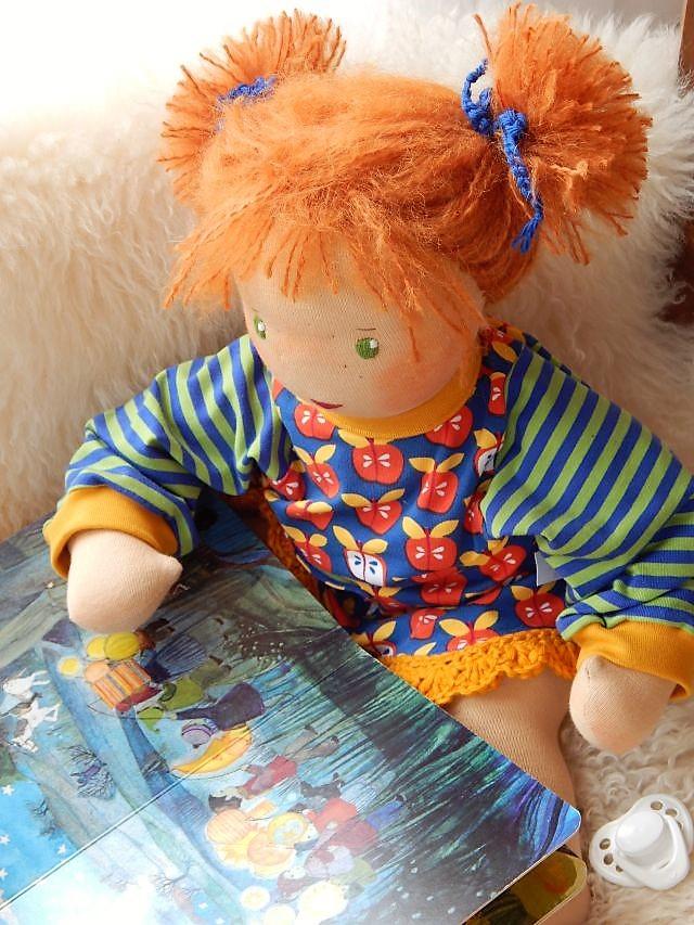 handgemachte Babypuppe, Waldorfart, Bio-Babypuppe, Stoffpuppe, individuelle Puppe passend zum Kind, Puppe nach Wunsch, individuelle Wunschpuppe, Puppenhandwerk, Jennifer Kliem-Pärsch, ökologische Kinderpuppe