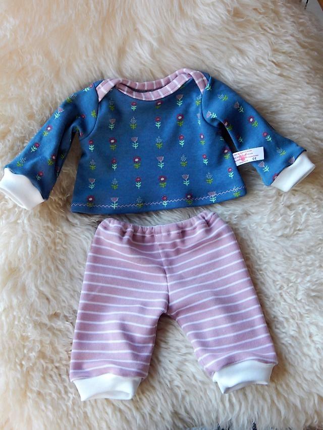 Puppenpyjama, Shirt mit Schlupfausschnitt, Bio-Stoffe