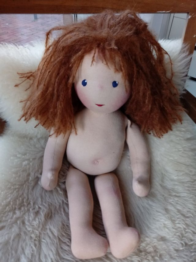 Bio-Stoffpuppe, individuelle Puppe passend zum Kind, ökologische Kinderpuppe, Waldorfart, Wunschpuppe, Puppe nach Wunsch, Puppenfreundin, Puppenhandwerk, Puppe aus Naturmaterial