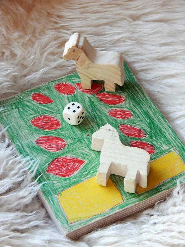 Wichtelgeschenk, selbstgemachtes Holzspiel