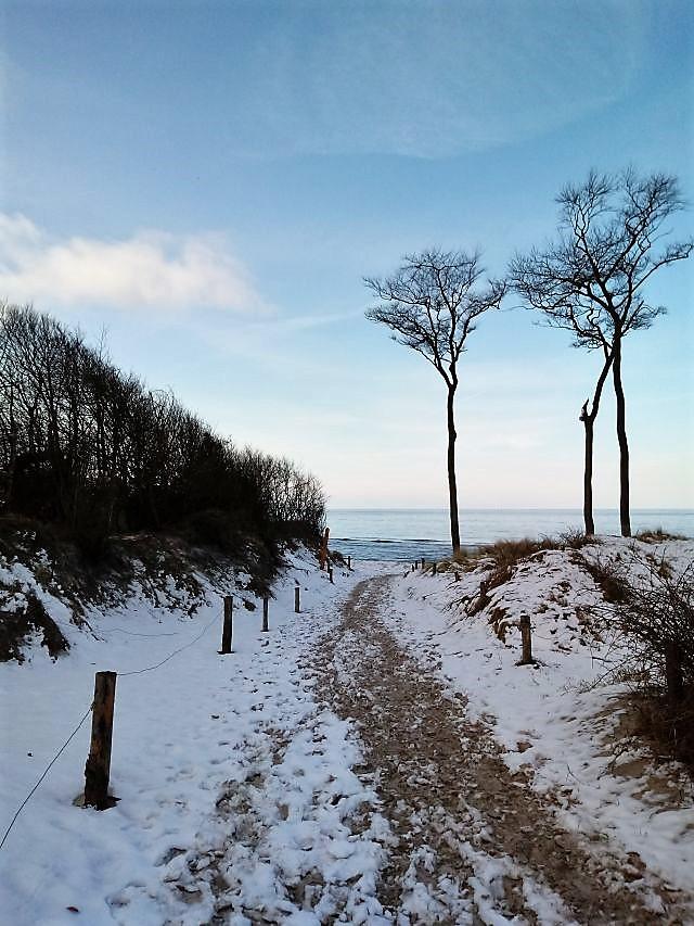 weiße Ostern 2018, Ostsee, Prerow, Darß, Weststrand