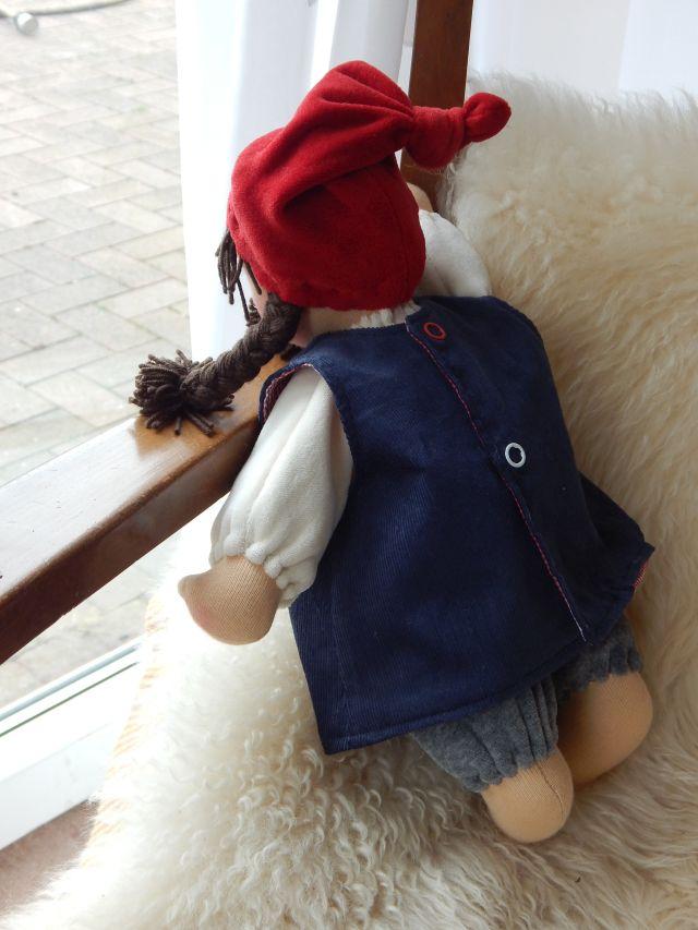 Bio-Stoffpuppe, Schlamperle, Waldorfart, individuelle Wunschpuppe passend zum Kind, erste Puppe, Puppenfreundin, Puppensommerkleid, Sommer-Outfit für Puppe, ökologische Kinderpuppe, handgemachte Puppe, handgefertigt, Handarbeit, Puppenhandwerk,  Pärsch