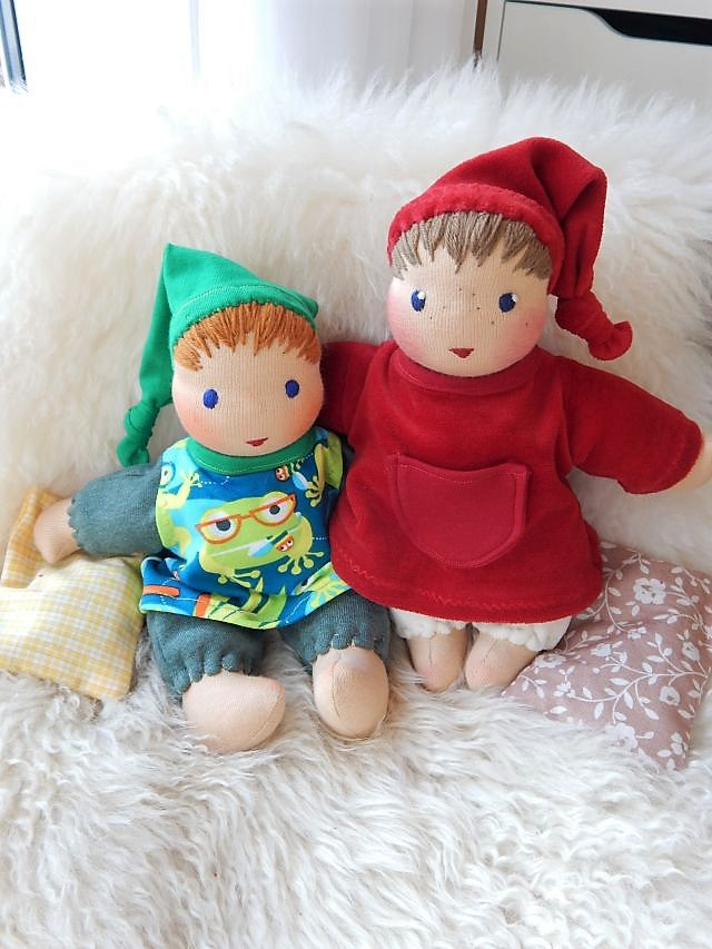 Schlamperle-Puppe, erste Puppe, Bio-Erstlingspuppe, Bio-Stoffpuppe, Waldorfart, handgemachte Puppe, Handarbeit, individuelle Puppe passend zum Kind, Wunschpuppe, ökologische Kinderpuppe, Kuschelpuppe, Schmusepuppe, Puppenhandwerk, Jennifer Kliem-Pärsch