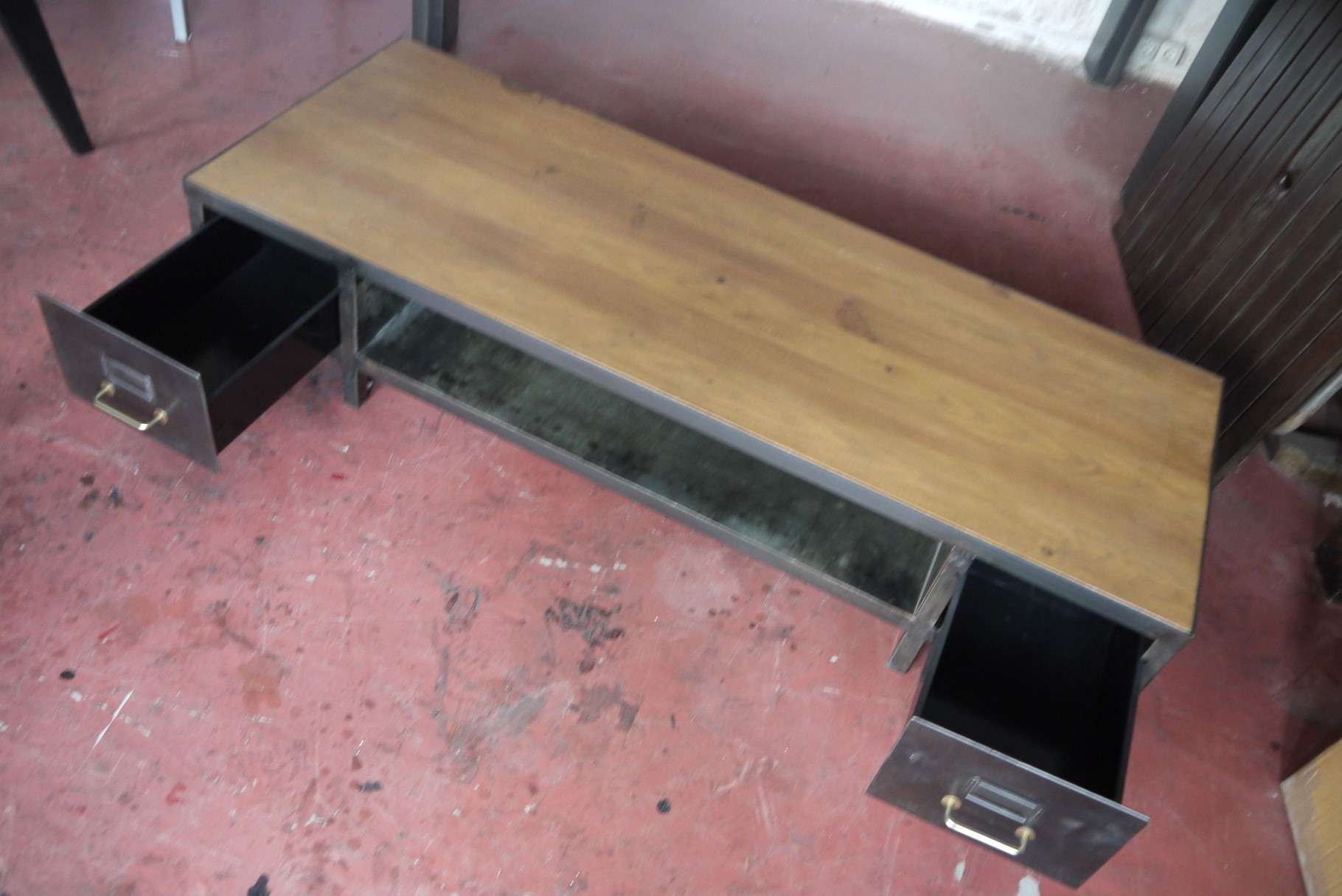 Table basse meuble tv industriel atelier vintage for K meuble table