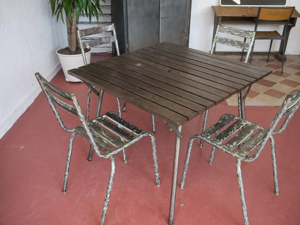 Vintage Lyon Table Atelier Mobilier Industriel 29DHIWEY