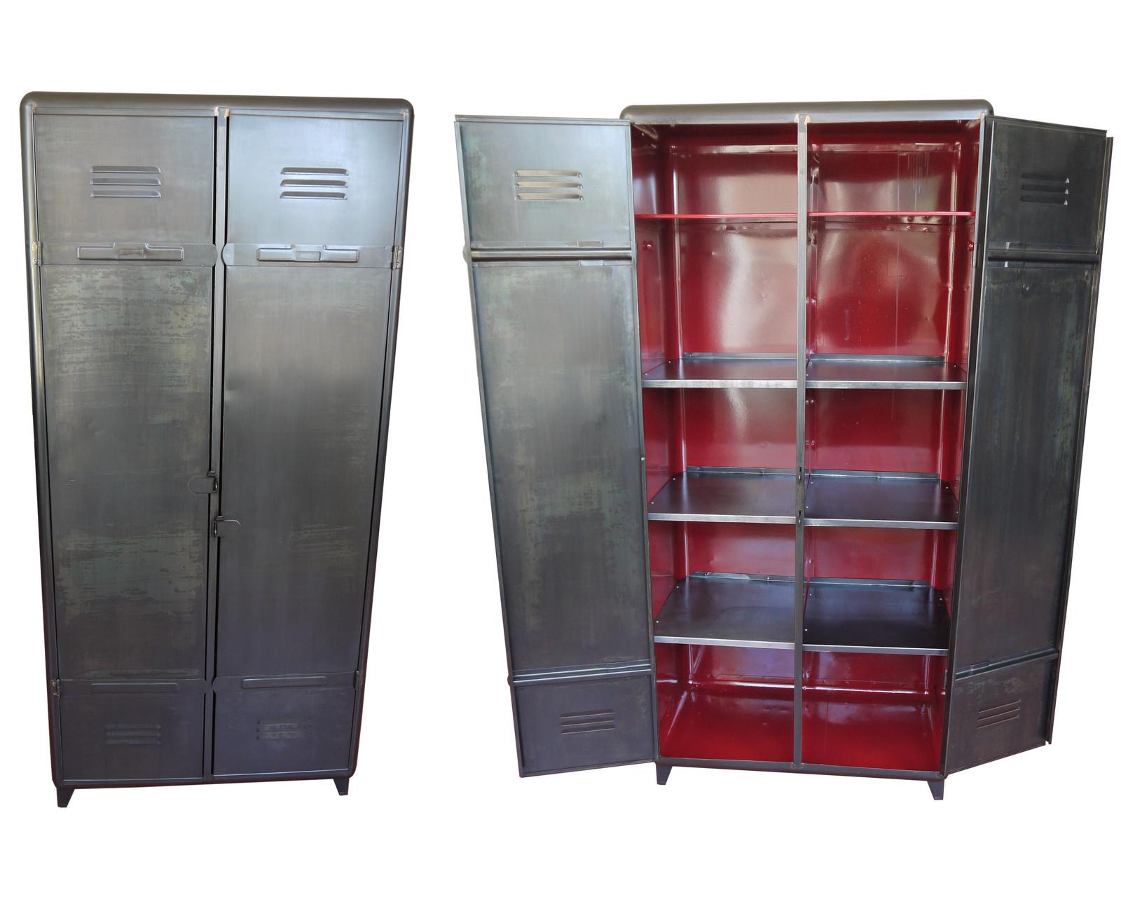 Armoire industrielle atelier vintage mobilier industriel lyon - Armoire industrielle metallique ...