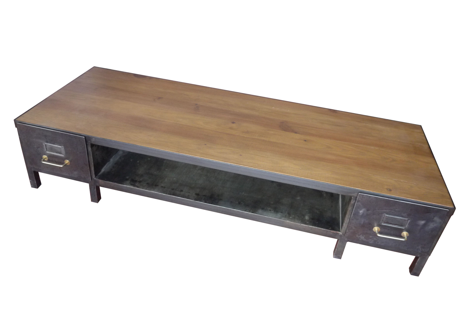 Table basse / meuble tv industriel   atelier vintage   mobilier ...