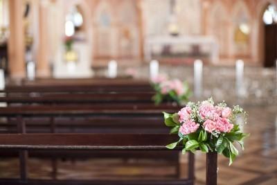 Hochzeitsfoto, vor der kirchlichen Trauung