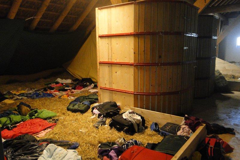 Eine Schlafkabine mit einem Butzenhäuschen. Foto: NABU Woldenhof