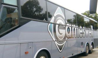 Busbeschriftung mit Digitaldruck