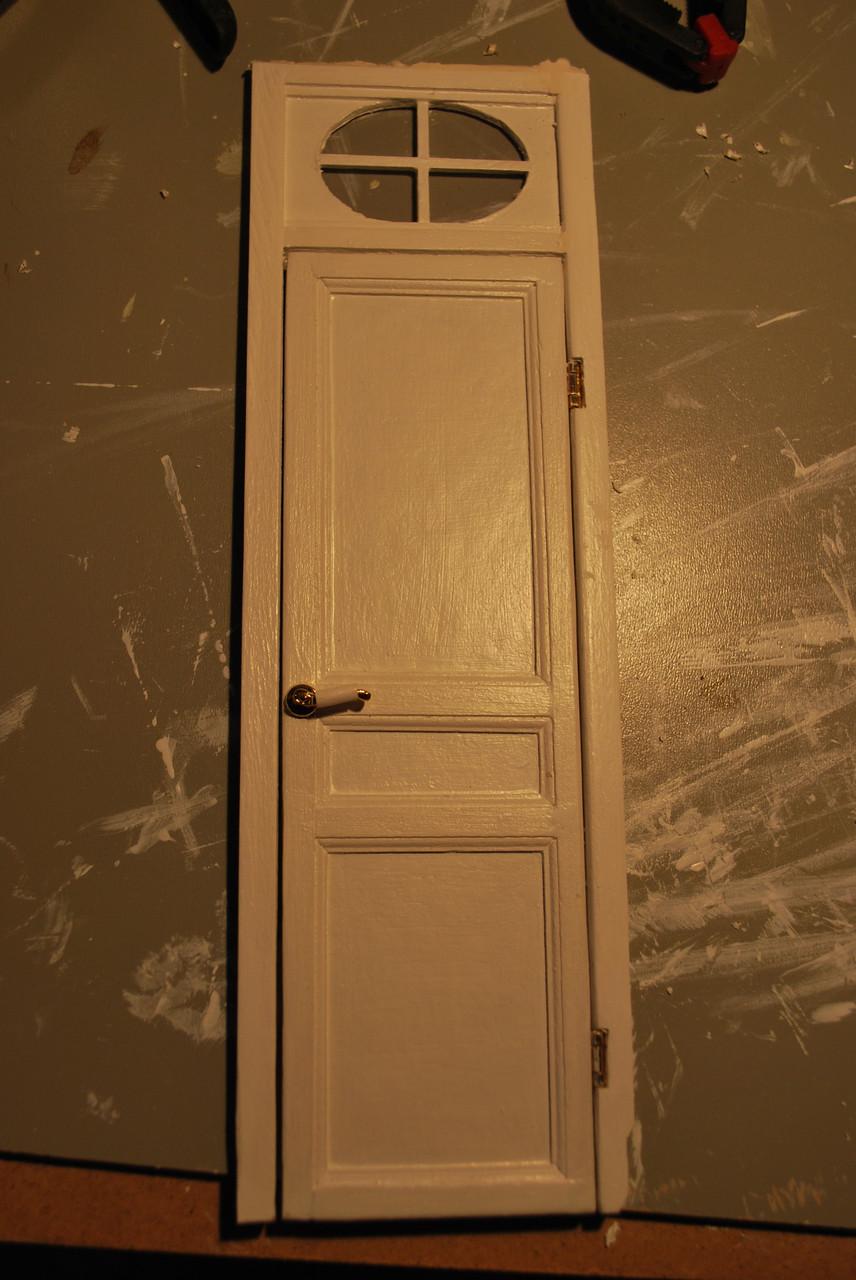 Porte des toilettes finie
