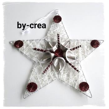 Kunstwerke aus Alukaffeekapseln Stern