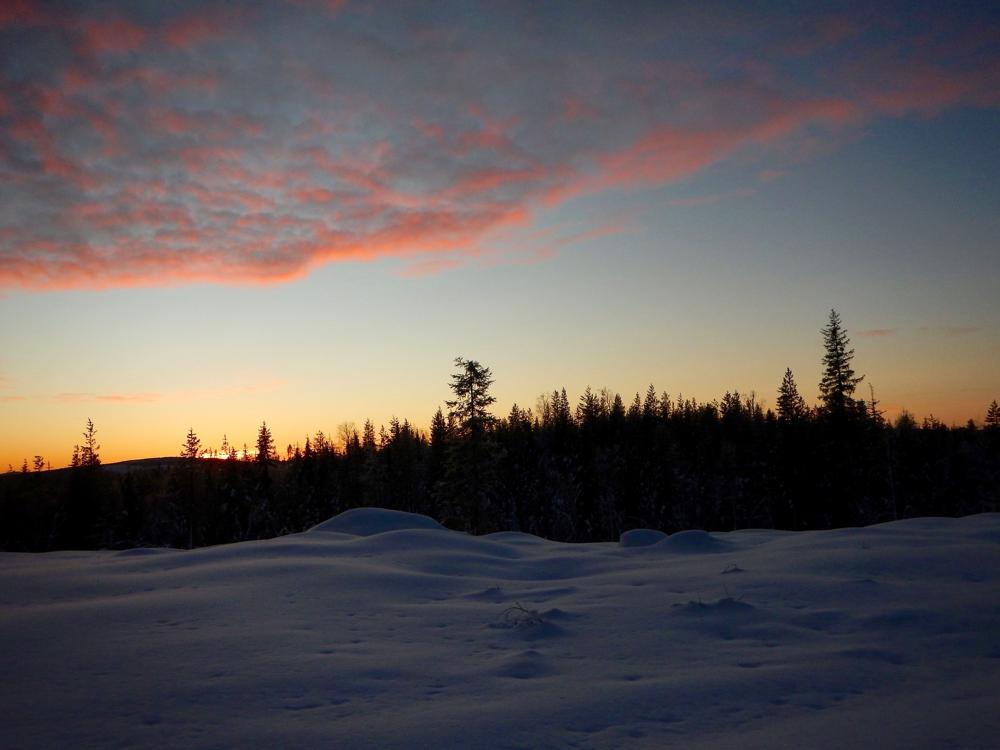 Letzter Sonnenuntergang des Jahres