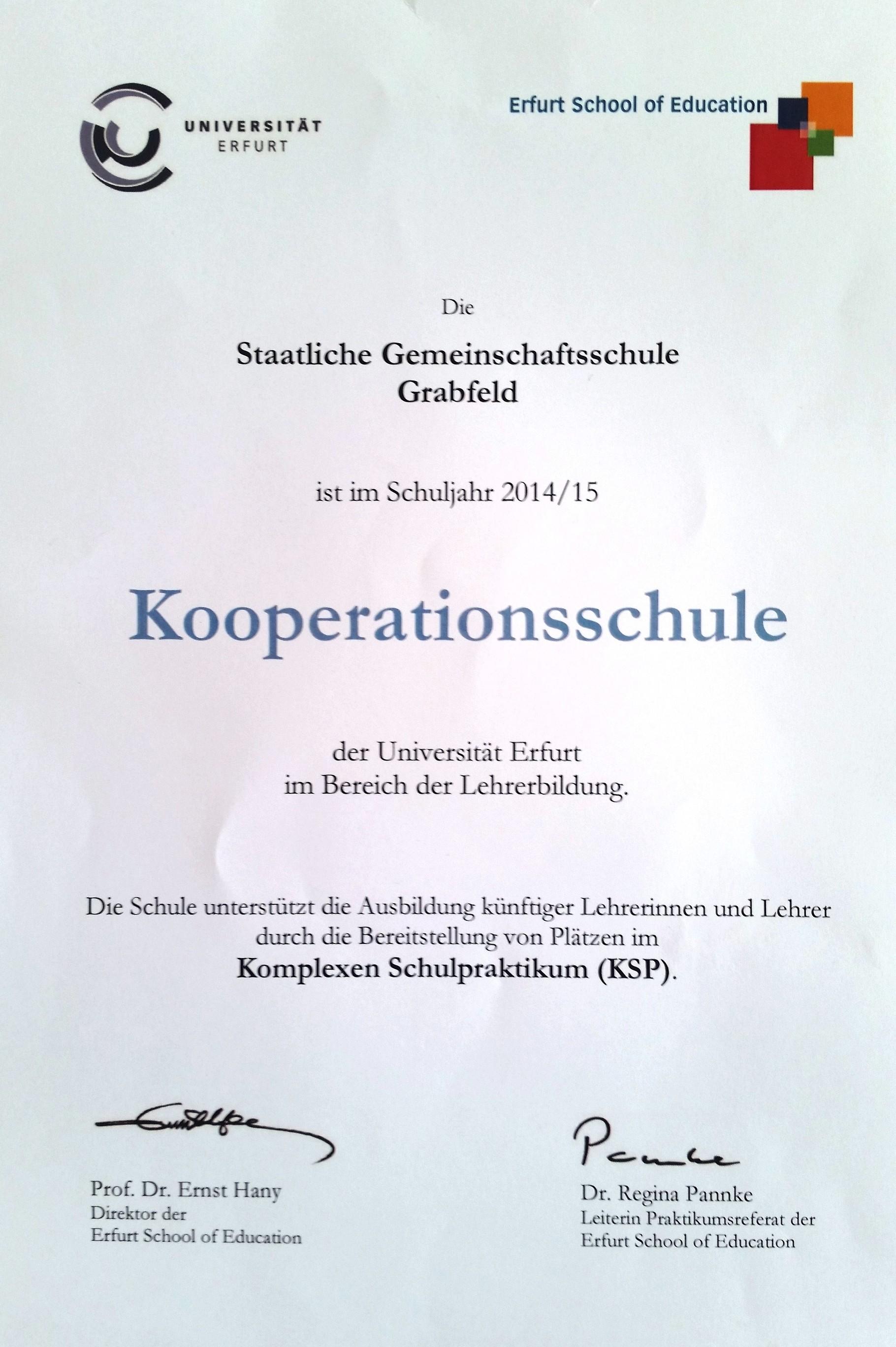 Kooperationen - Gemeinschaftsschule Grabfeld