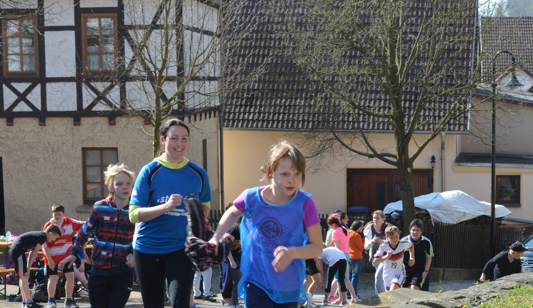Die Landtagsabgeordnete Kristin Floßmann unterstützte den Lauf aktiv!
