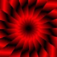 magischer Farbverlauf - Sternförmig