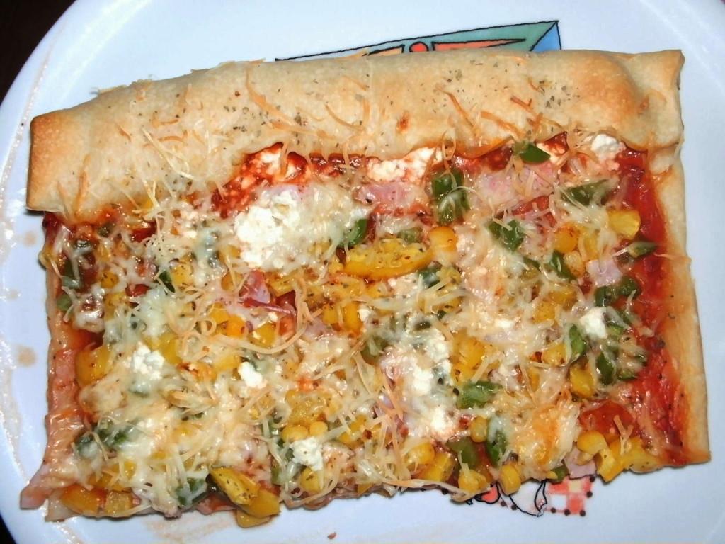 Pizza solo mit Blick auf den leckeren Rand