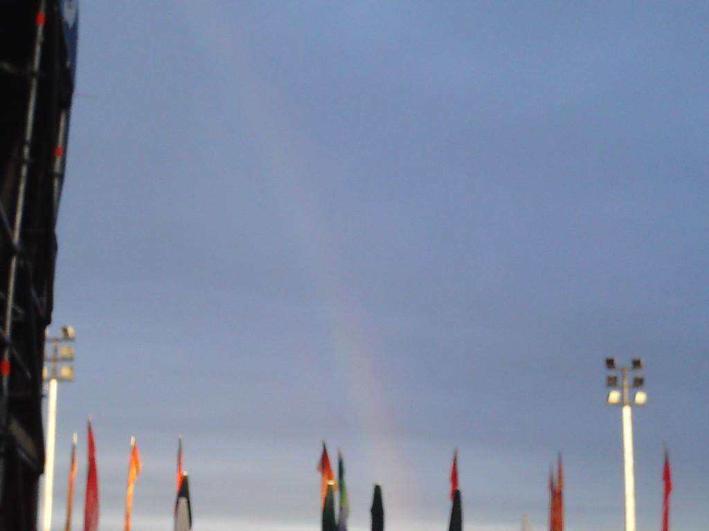 nach dem ganzen Regen ein Regenbogen