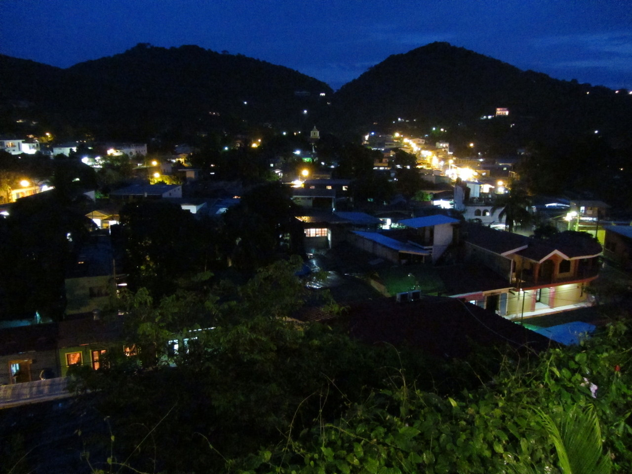 San Juan del Sur at night time