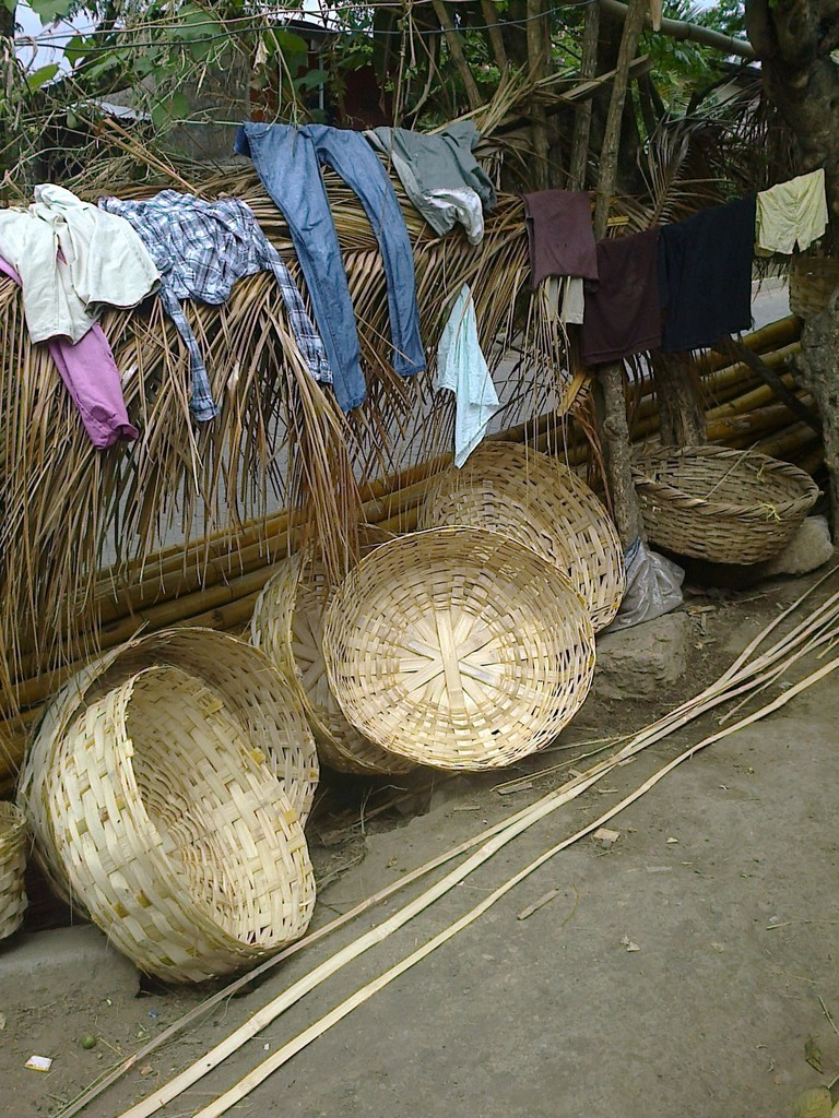 Baskets on the market in Masaya