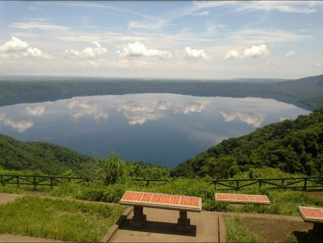 The beautiful Laguna de Apoyo from the viewpoint in Catarina