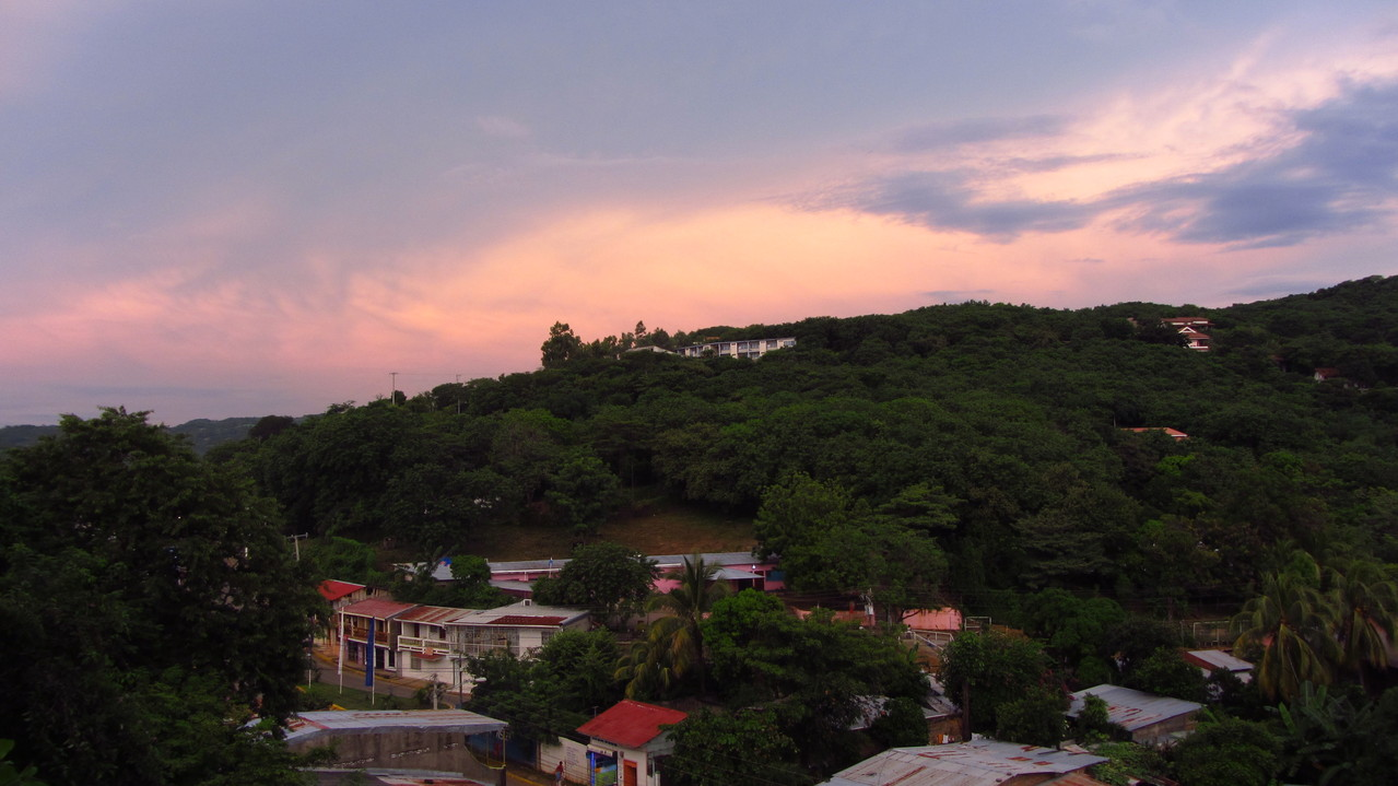 San Juan del Sur at sunset
