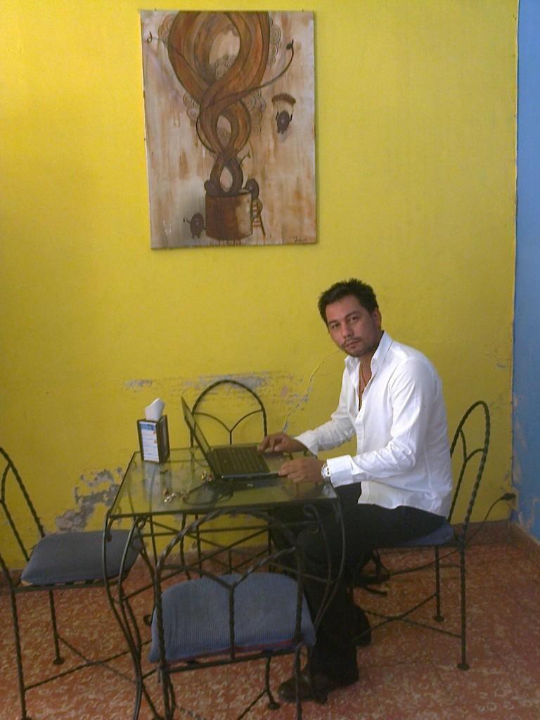Bosco working in Eurocafé