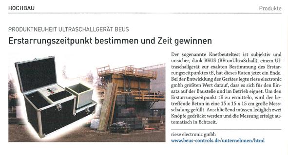 Zeitungsausschnitt des Magazins this