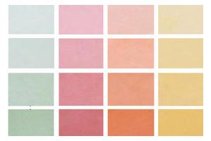 Farbmuster, das zeigt, welche Farben sich bei ein und demselben Beton mithilfe von Pigmenten erzielen lassen
