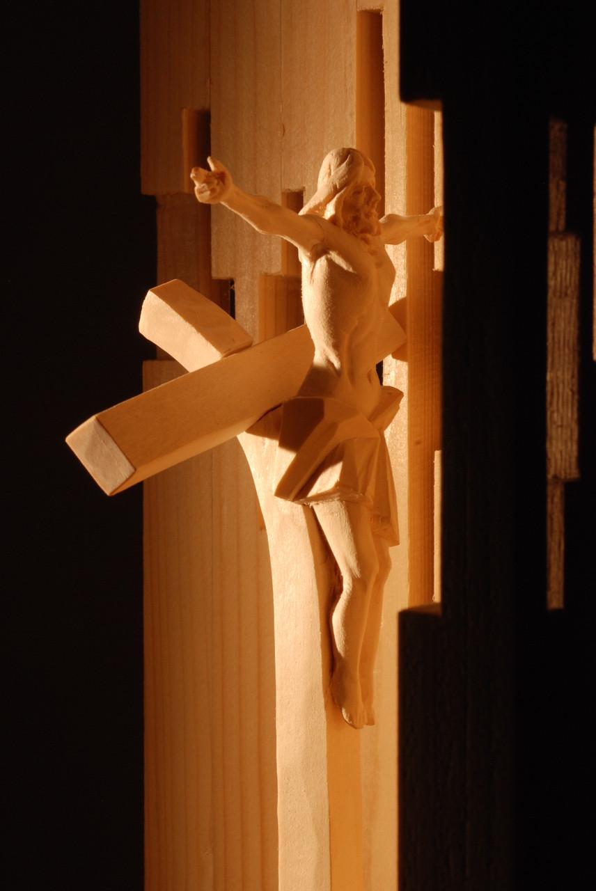 """Modell für die Arbeit """"Passion des Lebens"""" / Realisiert in der Größe von 250 x 80 x 80 cm / 2010"""