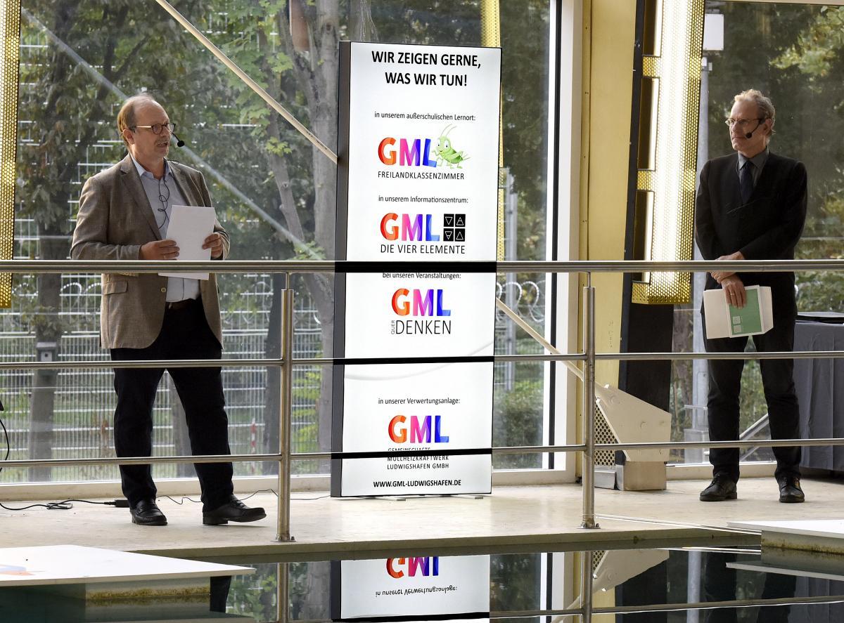 Dr. Thomas Grommes (Geschäftsführer GML) und Alexander Thewalt (Aufsichtsratsvorsitzender GML) bei der Begrüßung