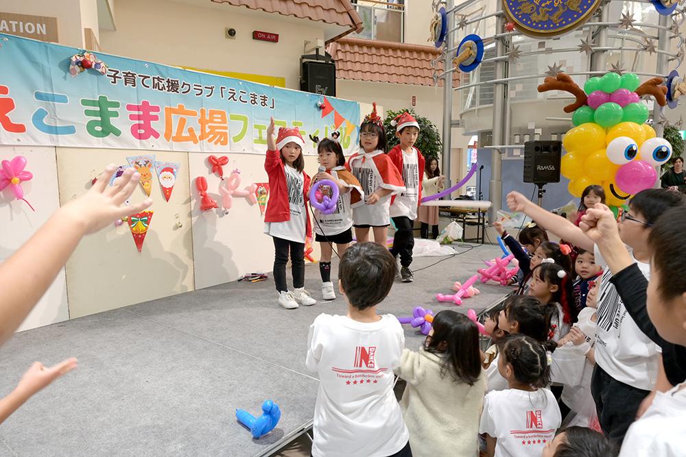 18.12.23 えこまま発表会 (ゆめタウン下松) バルーンステージ