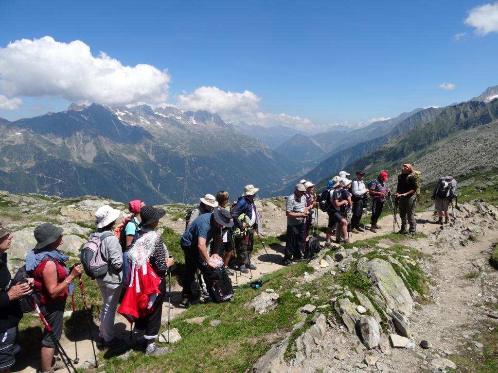 Départ de la rando depuis le plateau intermédiaire de l'Aiguille du Midi