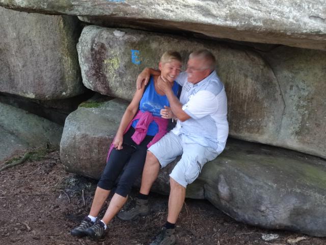 Sous le rocher Roméo et Juliette