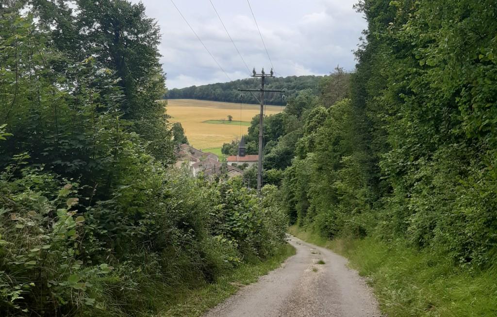 Descente vers Saint Amand sur Ornain