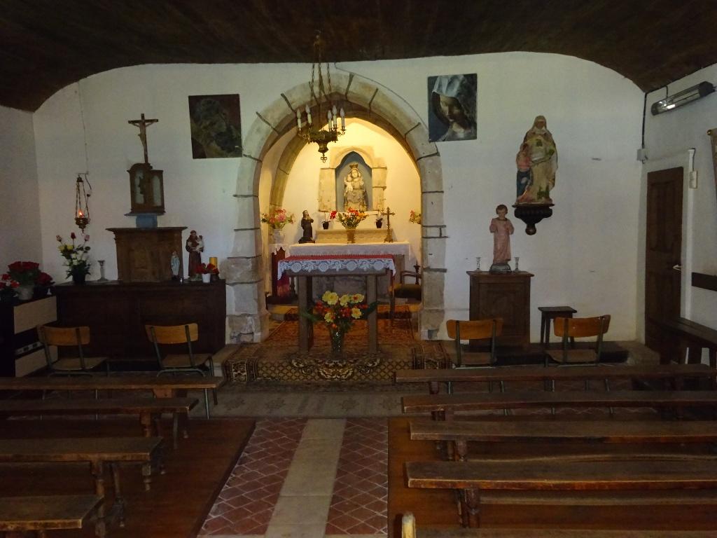 Intérieur de la chapelle ND de Bonne Espérance