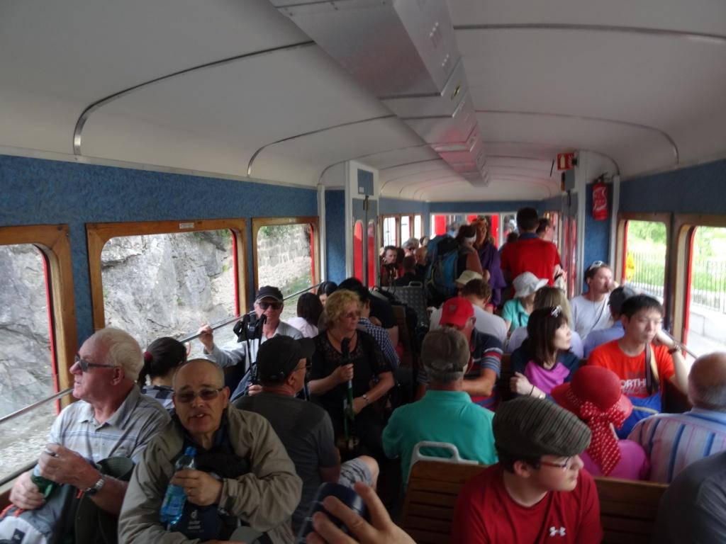 Retour par le train à crémaillère de montenvers